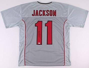 Autographed//Signed DeSean Jackson Tampa Bay Red Football Jersey JSA COA