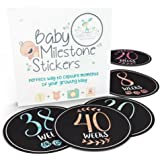 Pregnancy Stickers | 16 Baby Belly Bump Weekly Milestone Sticker for Mom-to-Be Up to 40 Weeks | Includes 4 Adorable…
