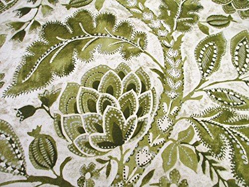 P Kaufmann Fabric Upholstery Drapery Linen Java Tree Moss Floral EE11