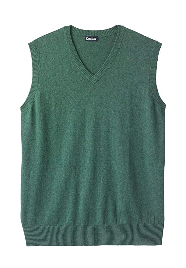 e85040191c104 KingSize Men s Big   Tall Lightweight V-Neck Sweater Vest at Amazon Men s  Clothing store