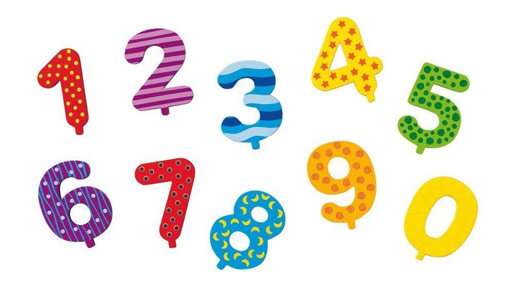 Goki Geburtstagsdekoration Geburtstagskranz Junge mit Zahlen 1-9+0 und Kerze holzzwerge