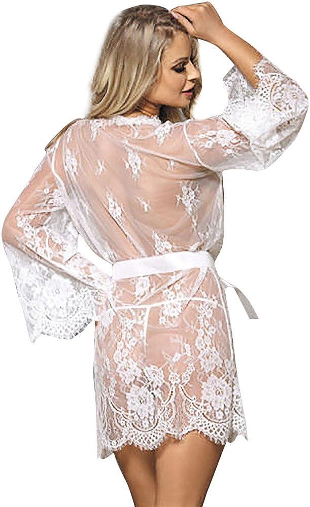 G-String Lialbert Lingerie da Donna Babydoll Sleepwear Intimo Lace Coat Nightwear