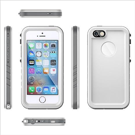 e78bb611e62 Casefirst Funda Carcasa iPhone SE 5SE 5 5S Waterproof Funda Impermeable con  Sensible Pantalla Táctil y ...