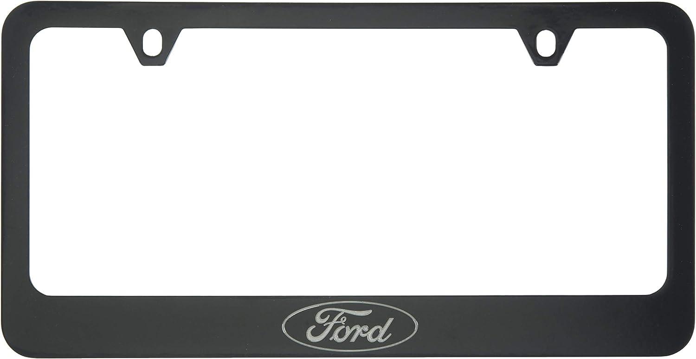 Ford Logo License Plate Frame (2 Hole, Black/Wide)