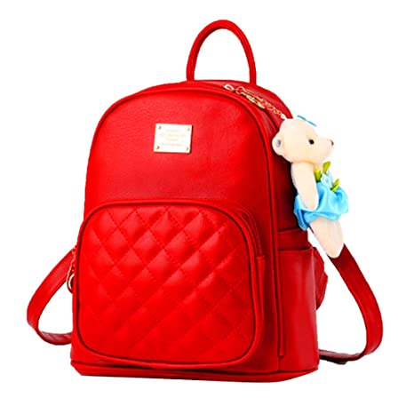 Alice Women s Pre13 2018 Leather Backpacks (Red)  Amazon.in  Bags ... d621f02cc19eb