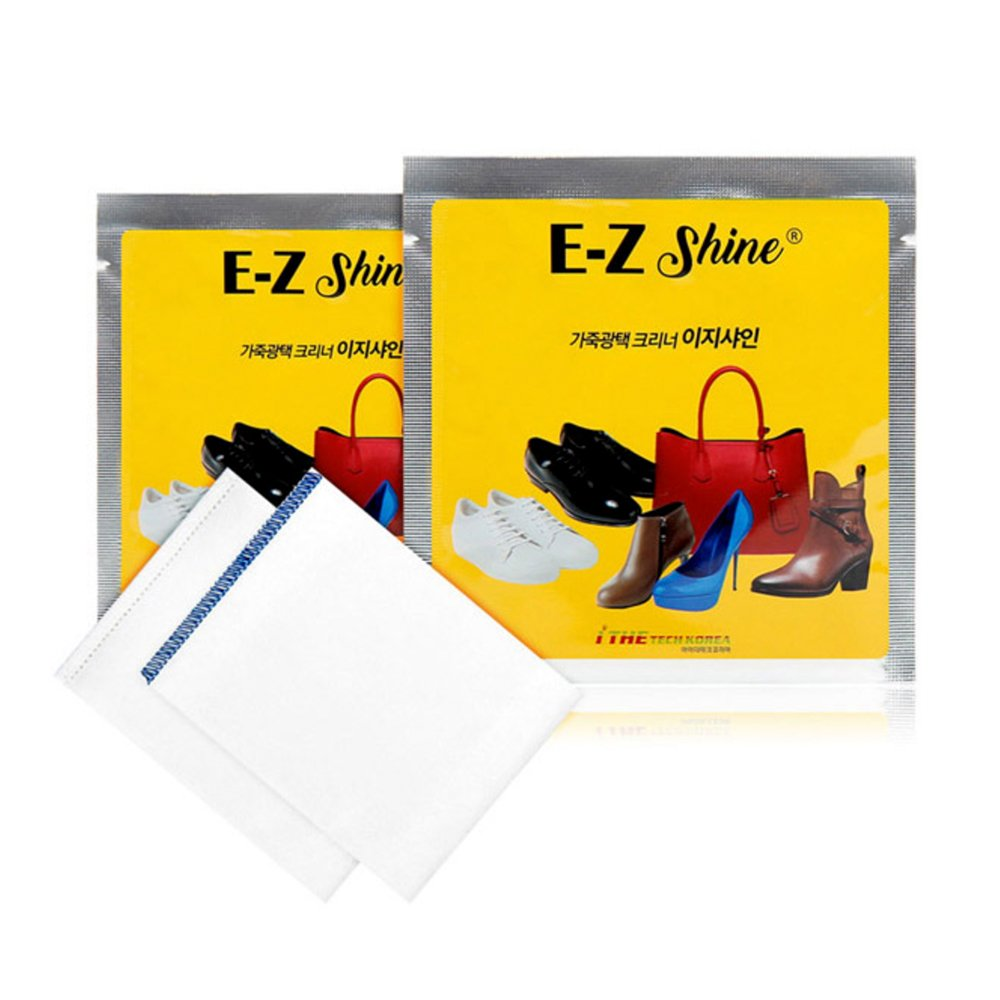 EZ Shine Leather Shoe Polish, Clean & Care Wipes, For Leather Shoes, Bag, Jacket, Furniture & Car Interiors (30 count)