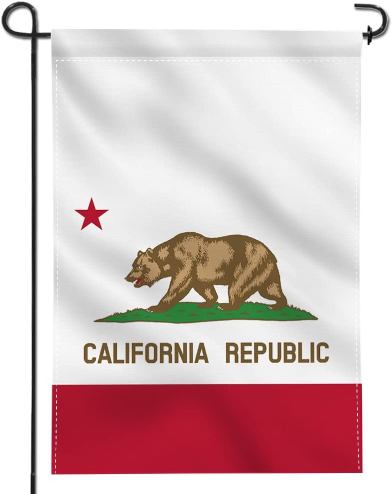 Anley |Double Sided| Premium Garden Flag, California State Decorative Garden Flags - Weather Resistant & Double Stitched - 18 x 12.5 Inch
