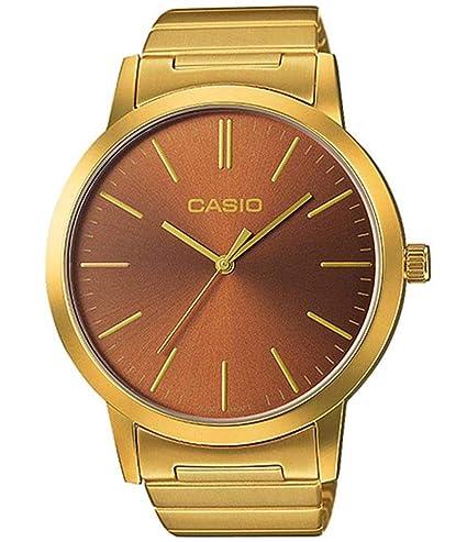 Casio Reloj Analógico para Unisex de Cuarzo con Correa en Acero Inoxidable LTP-E118G-5AEF: Amazon.es: Relojes