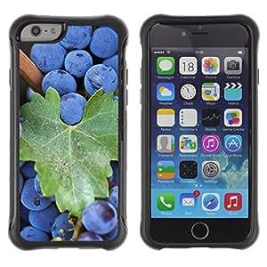 Pulsar Defender Series Tpu silicona Carcasa Funda Case para Apple iPhone 6 Plus(5.5 inches), Fruit Macro Blueberries