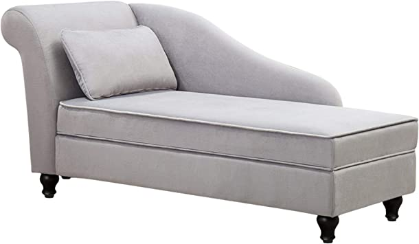 Amazon Com Modern Chaise Lounge Open Fold Spa Sofa Long Lounger For Bedroom Office Living Room With Storage Kitchen Dining
