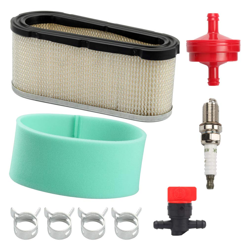 496894 Air Filter 272403S Pre Filter with Fuel Filter Fuel Shut Off Valve for Briggs & Stratton 282700 12.5-17 HP Engines