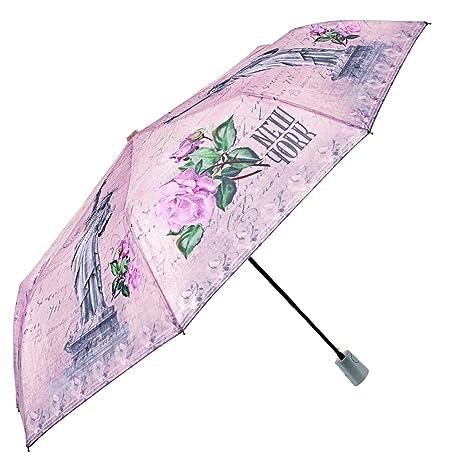 Ombrello donna automatico da viaggio fantasia città – Ombrello pieghevole  Perletti – Ombrello elegante ecaadcb7d6b6