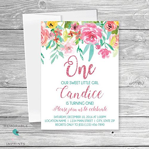 Amazon set of 10 floral 1st birthday invitation flower girl set of 10 floral 1st birthday invitation flower girl birthday invitation first birthday filmwisefo