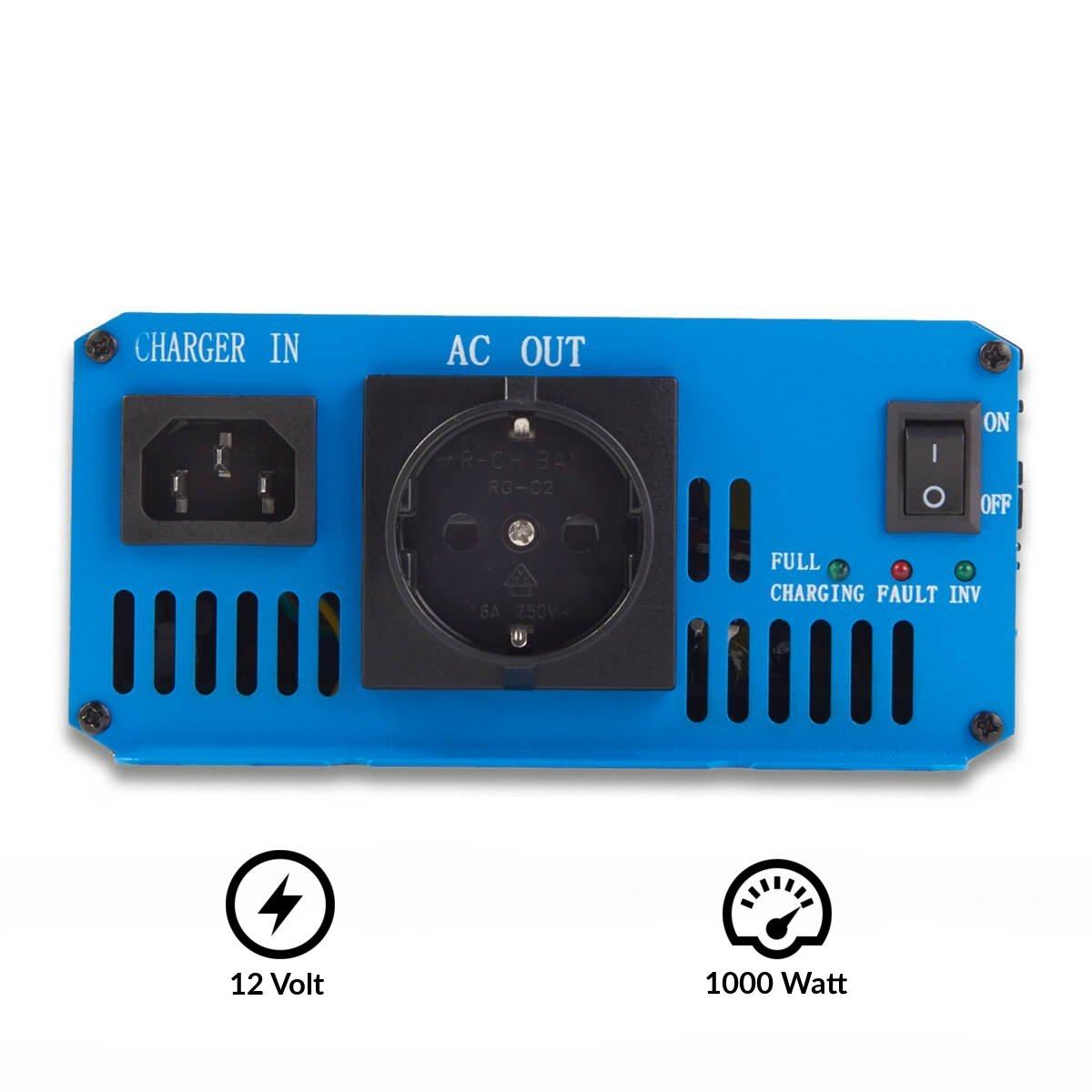 ECTIVE CSI-Serie | Sinus Wechselrichter 1000W mit Batterie Ladegerät ...