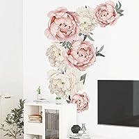 40 * 60 cm / 15.7 * 23.6 inch Elegante Prachtige PVC Zelfklevende Muursticker, praktische Mooie Pioen Bloemen…