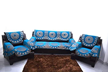 A.P Handloom FIROZI Sofa Cover with ARM Set of 12PC(3+1+1) USE Both Side DESINGE;Armani