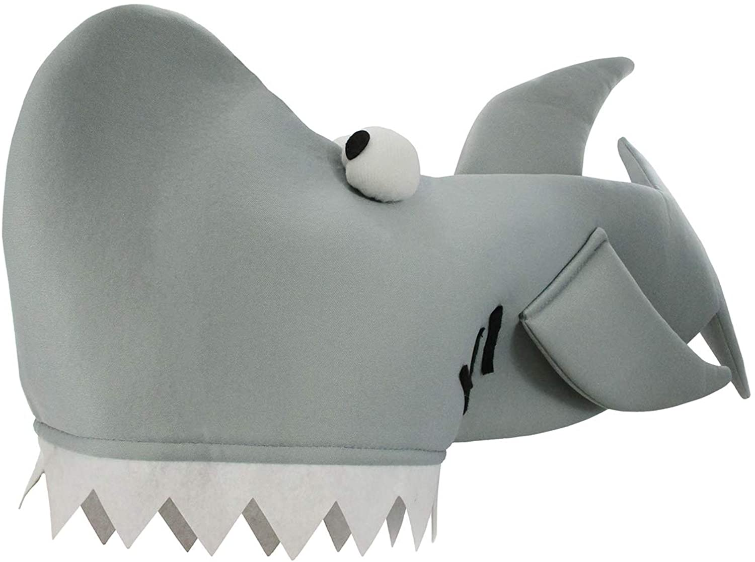 Shark Bite Costume Hat  Gray  One Size