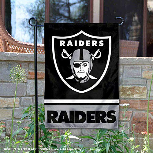 (WinCraft Oakland Raiders Double Sided Garden Flag )