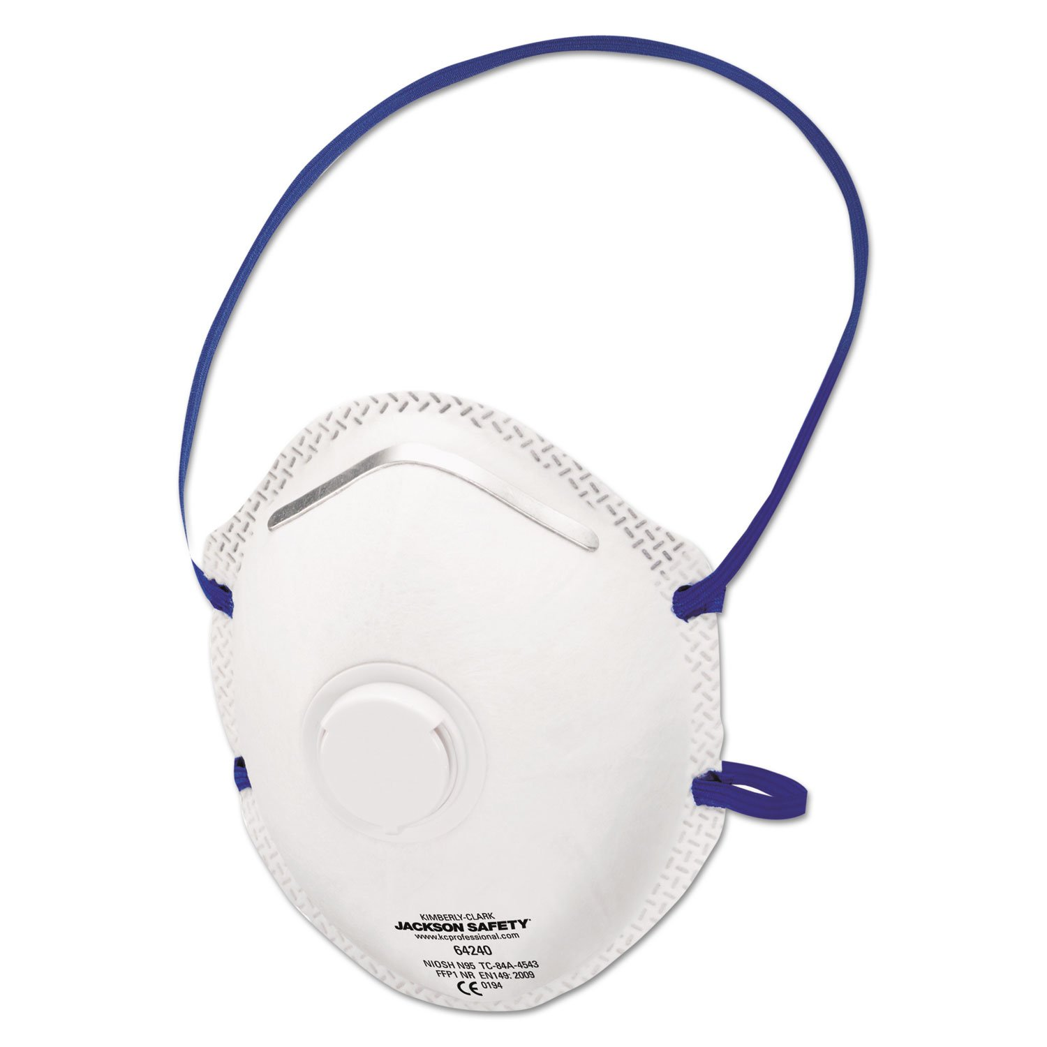 Jackson Safety R10 Particulate Respirator, N95, White, One Size Fits All, 10/Box, 8/Ct