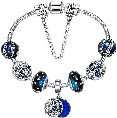 925 SILVER Plated Bracelet For BEST FRIEND XMAS BIRTHDAY Gift JEWELLERY BLUE