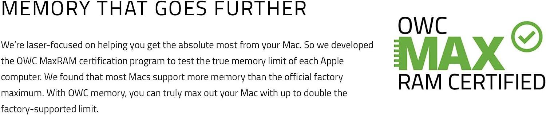 OWC 32.0GB 4 x8GB OWC8566DDR3S32S PC8500 DDR3 1066 MHz 240 pin Memory Upgrade Kit for 2009 Apple iMac 27 inch,