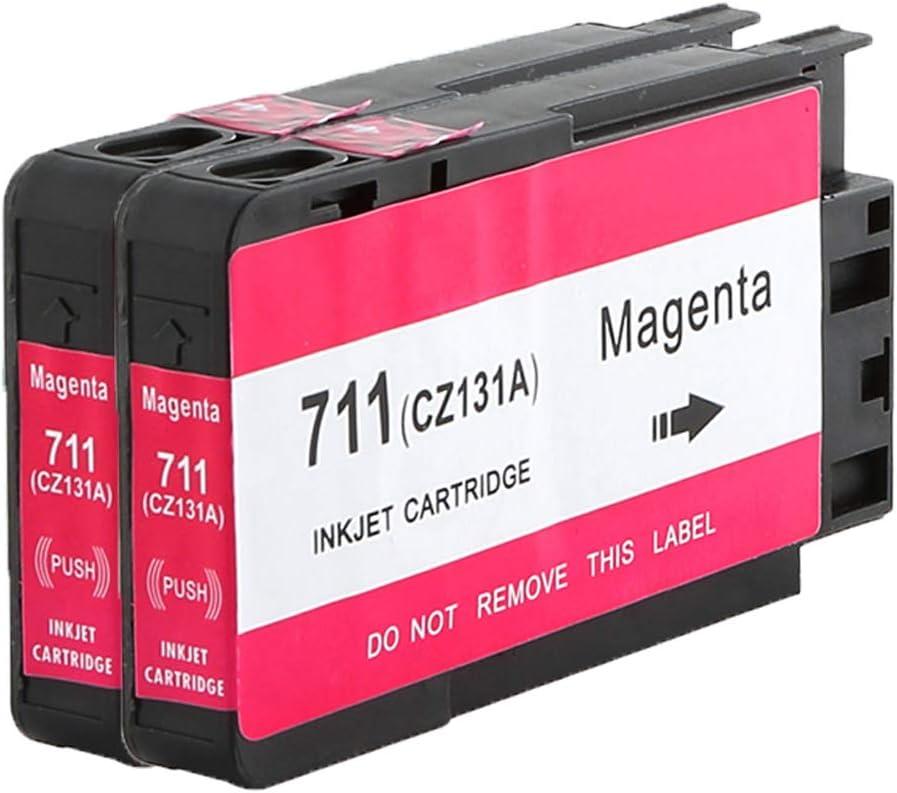 caidi Cartucho de Tinta Compatible con 711 X L 711 XL Negro Cian Magenta Amarillo Repuesto para HP DesignJet T120 24 T120 610 T520 24 T520 36 T520 610, Color 2 Magenta: Amazon.es: Oficina y papelería