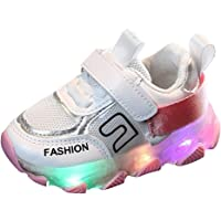 Baby Boys Girls Running Shoes Led Luminous Sneakers Breathable Casual Shoes Baby Kids Anti-Slip Wear-Resistant Summer Outdoor Sports Soft Sole Trainers Shoes