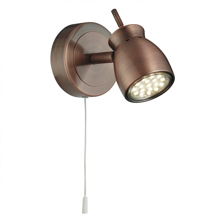 Searchlight jupiter wall light copper amazon co uk lighting