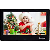 Digital Photo Frame 10 inch Kenuo Digital Picture Frame High HD 1024x600(16:9) Electronic Picture Frame with Video Player Stereo/MP3/Calendar/Auto On/Off Timer (10 Inch, Black)