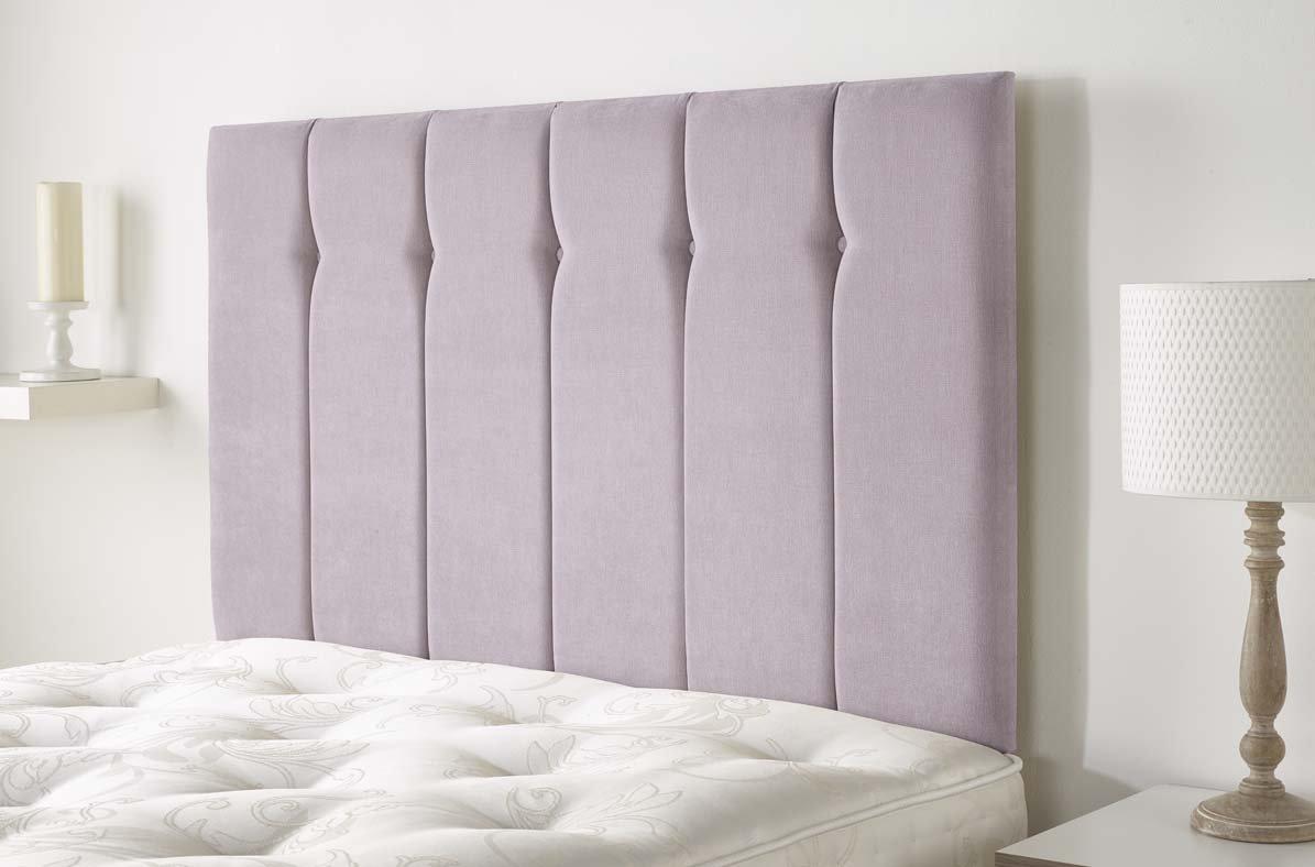 Lilac King 5ft Aspire Furniture Portmoor Headboard in Katsuro Linen Fabric