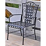International Caravan Mandalay Iron Patio Chair - Set of 2