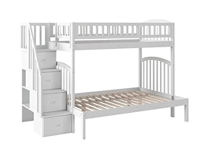 4ff1244924d4 Amazon.com  Atlantic Furniture AB65702 Westbrook Staircase Bunk Bed ...