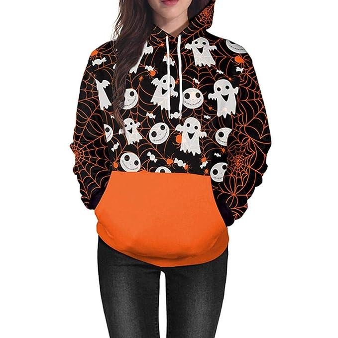 Overdose Lovers Scary Halloween Pumpkin Grimace 3D Print Fantasma Festival Fiesta con Capucha Sudadera Top Blusa: Amazon.es: Ropa y accesorios