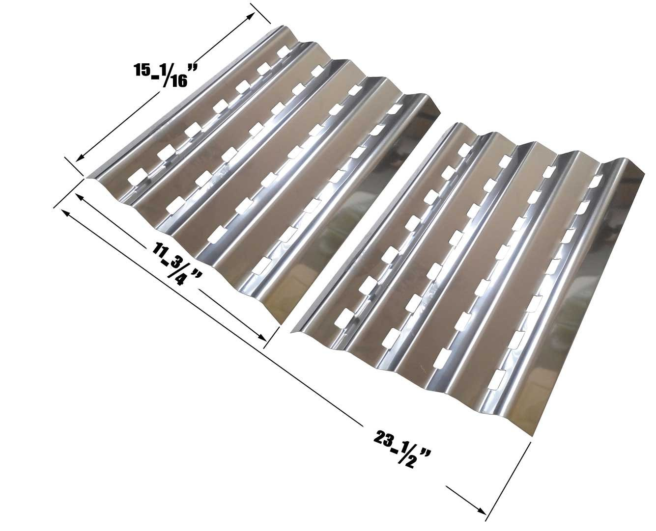 Brinkmann 2400, 2400 Pro Series, Pro Series 2600, 810-2600-0, 810-2600-1, Pro Series 2630, 810-2630, Falcon 4400, Patio Chef SS48 Stainless Heat Shields, Set of 2 by Grill Parts Zone