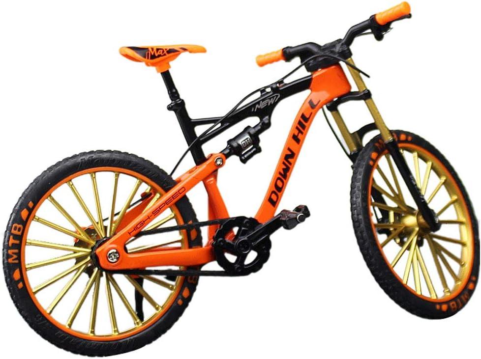 Mini Bike Finger Bike, 1:10 Aleación de Zinc Miniatura Finger Mountain Riding Bike Toy, Juego Creativo Regalo de Juguete para niños