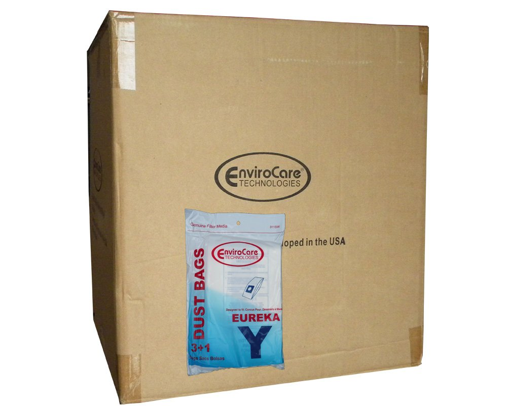 1 Case (50 pkgs) Eureka Electrolux Type Y Commercial Upright Allergen Vacuum Cleaner Bags and Filter by EnviroCare