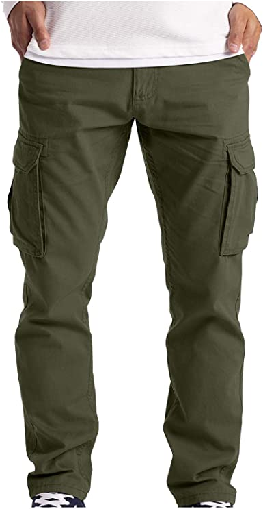 Mens Cargo Military Combat Trousers Multi Pocket Casual Workwear Pants Trousers
