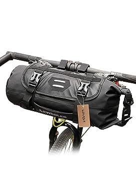 Lixada Bolsa de Sillín 3-10L/Bolsa de Manillar 3-7 L Impermeable Ajustable Desmontable para Bicicleta MTB Bicicleta de Carretera