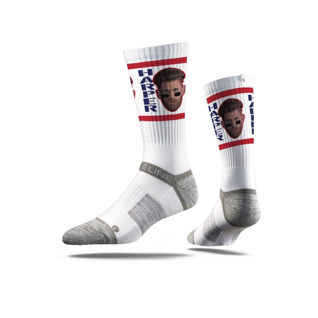 Strideline MLB PA Washington Nationals Bryce Harper Premium Socks, Red, One Size