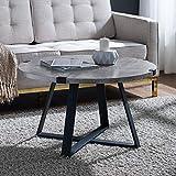 WE Furniture AZF30MWCTDC Coffee Table, Dark Faux Concrete