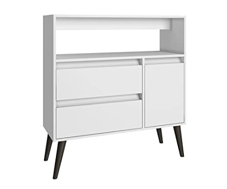 Manhattan Comfort Gota High Side Table Collection Multi Functional Modern  Side Table / TV Stand With