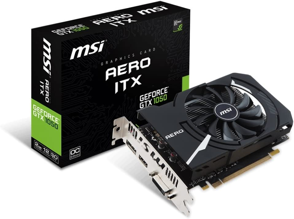MSI - Gaming Graphics Card MSI 912-V809-2484 GTX 1050 AERO ITX 2 GB DDR5 |