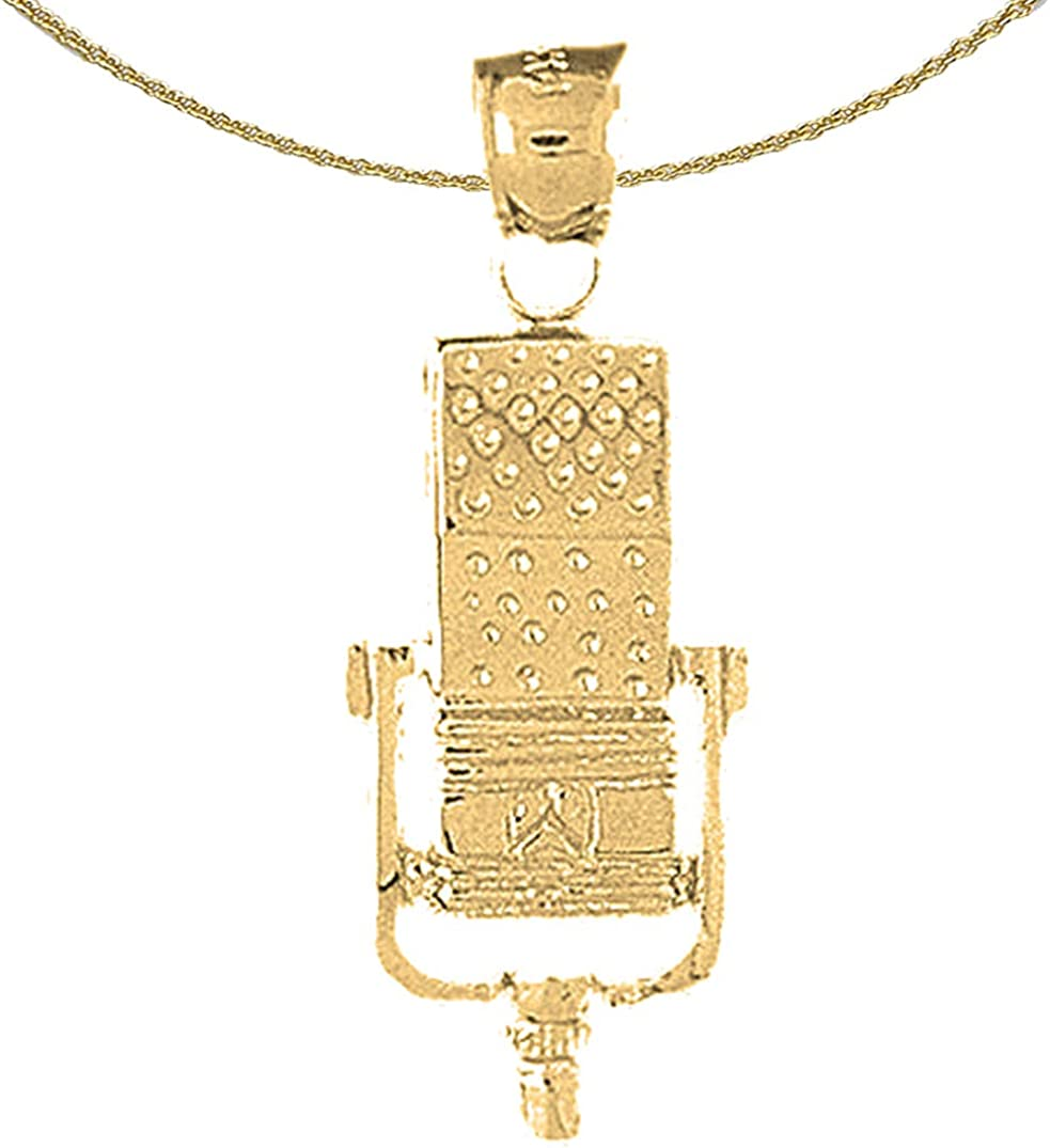 12 mm Jewels Obsession 14K Yellow Gold Special Sister Pendant