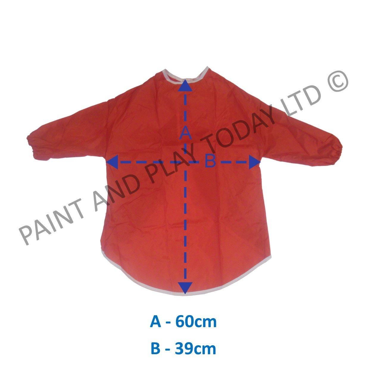 Rosso scuola cucina casa 2-4 Anni Paint and Play Today Grembiule camice per bambini mezze maniche lunghe per pittura