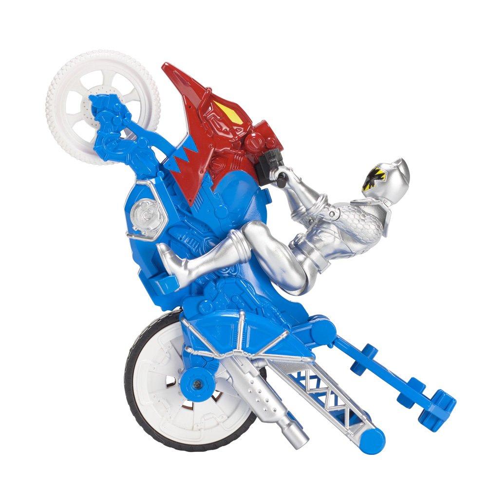 12 cm Argent Power Rangers Bandai Figurine 43078 Moto Cascade