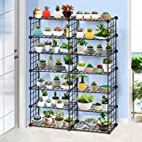 ALUS- Iron net Iron Multi-storey flower racks balcony living room Floorstanding Multifunction Storage shelves ( Size : 65125cm )