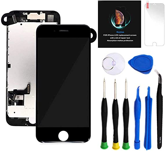 Earpiece Repair Tools Kit Black Screen Protector For iPhone 6S Plus Screen Replacement Kit Black 5.5 LCD Display iPhone 6S Plus Replacement Touch Digitizer Screen Full Assembly with Front Camera