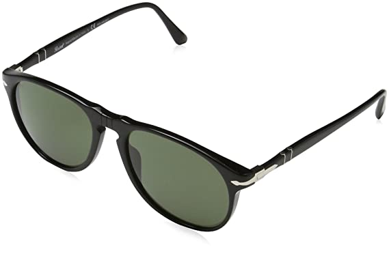 b4cdb472a30 Amazon.com  Persol Men s 0PO6649S Black Green Polarized Sunglasses ...