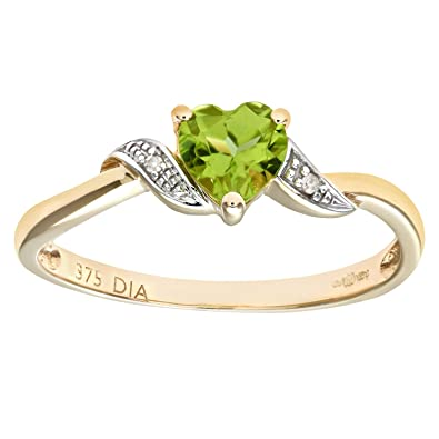 Revoni 9ct Yellow Gold Ladies Heart Ring 9vKTtcMR