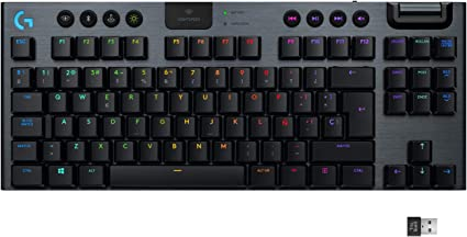 Logitech G915 LIGHTSPEED TKL Teclado Gaming Mecánico Inalámbrico con teclas GL-Clicky de bajo perfil, LIGHTSYNC RGB, Diseño ultra delgado, 40 Horas ...